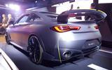 Infiniti Project Black S Paris Motor show reveal stand rear
