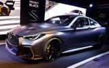 Infiniti Project Black S Paris Motor show reveal stand front