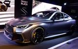 Infiniti Project Black S Paris motor show reveal stand