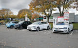 Hyundai Ioniq, Volkswagen E-Golf, BMW i3 vs Nissan Leaf - electric vehicle group test