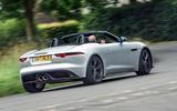 Jaguar F-Type 400 Sport cornering