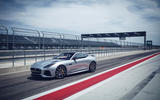 Jaguar F-Type SVR in the pit lane