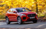 Jaguar E-Pace D180 on the road