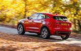 Jaguar E-Pace D180 rear on the road