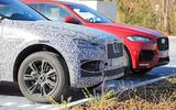 Jaguar F-Pace facelift spies front medium next to old car