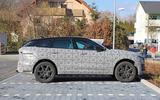 Jaguar F-Pace facelift spies side