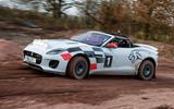Jaguar F-Type rally car 2019 driven - Dan Prosser side