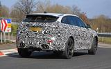 Jaguar F-Pace SVR facelift spyshot - rear side