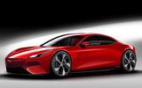 Jaguar saloon render 2020 - static side