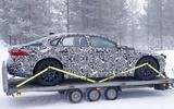 Jaguar XJ test mule side rear
