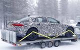 Jaguar XJ test mule rear side
