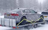 Jaguar XJ test mule rear 3/4