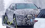 Jaguar XJ test mule front partial