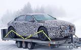 Jaguar XJ test mule front side