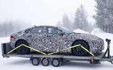 Jaguar XJ test mule side