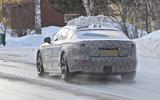 Jaguar XJ latest spyshot rear
