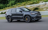 Jeep Grand Cherokee Trackhawk on the track