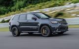 Jeep Grand Cherokee Trackhawk on the track
