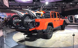 Jeep Gladiator LA motor show reveal - stand bikes