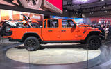 Jeep Gladiator LA motor show reveal - stand side