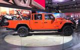 Jeep Gladiator LA motor show reveal - stand side