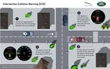 Infographic showing JLR traffic light detection technology