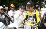 John Surtees with Valentino Rossi