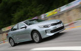 Kia Optima PHEV cornering