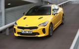 Kia Stinger GT S long-term review action top-front