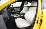 Kia Stinger GT S long-term review front seats