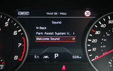 Kia Stinger GT S long-term review instrument cluster
