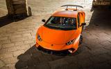 Lamborghini Huracan Performante top profile