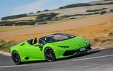 Lamborghini Huracán LP610-4 Spyder cornering
