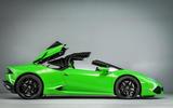 Lamborghini Huracán Spyder roof opening