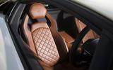 Lamborghini Aventador S quilted leather seats