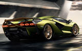 Lamborghini Sian reveal images - rear