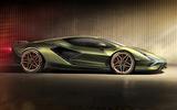Lamborghini Sian reveal images - static side