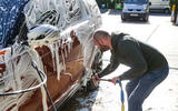 Cleaning the Land Rover Discovery