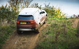 Land Rover Discovery climbing up hill