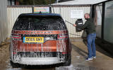 Jet washing Land Rover Discovery