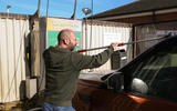 Scrubbing the Land Rover Discovery
