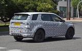 Land Rover Discovery Sport spy shot rear three quarters