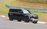 Land Rover Defender V8 Nurburgring side front