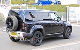 Land Rover Defender V8 Nurburgring rear road