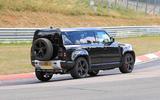 Land Rover Defender V8 Nurburgring side rear