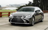 Lexus LS 500h F Sport on the road