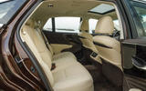 Lexus LS 500h F Sport rear seats