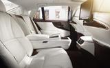 Lexus LS 500h rear seats