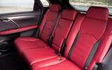 Lexus RX F Sport 2019 rear seats