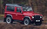 Land Rover Defender V8 driven